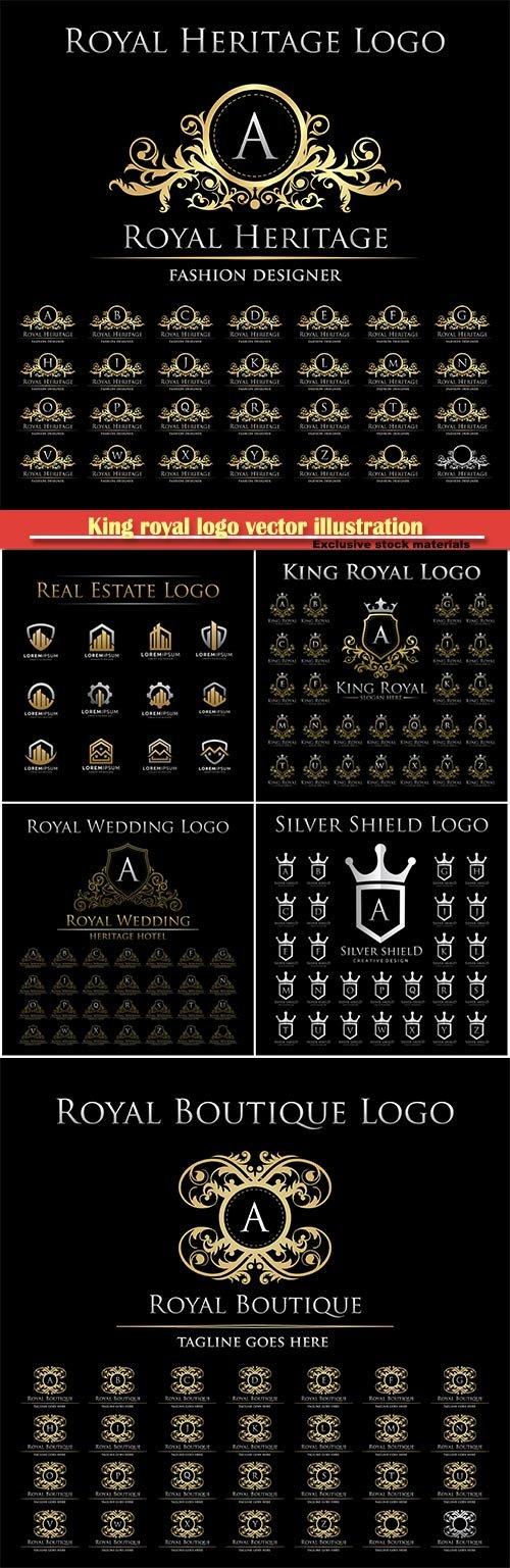 King royal logo vector illustration