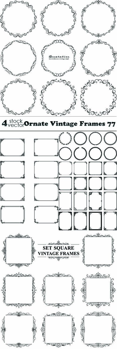 Vectors - Ornate Vintage Frames 77