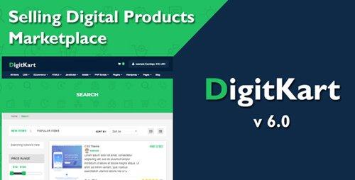 CodeCanyon - DigitKart v6.0 - Multivendor Digital Products Marketplace - 22741024