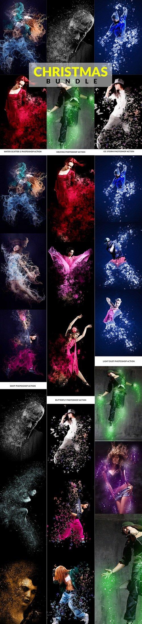 Christmas Photoshop Action Bundle 22813011