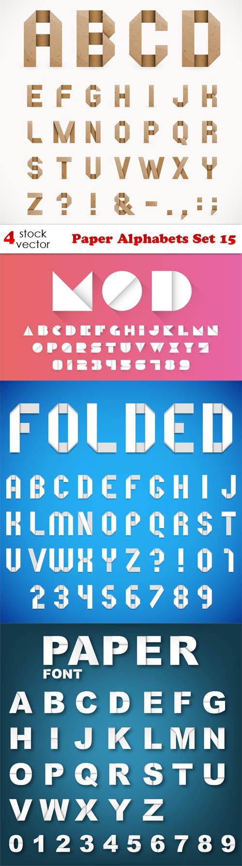 Vectors - Paper Alphabets Set 15