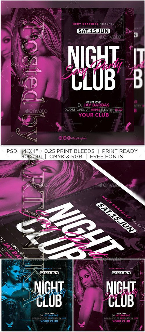 GraphicRiver - Night Club Flyer 23255169