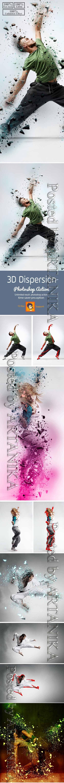 GraphicRiver - 3D Dispersion Photoshop Action 23250205