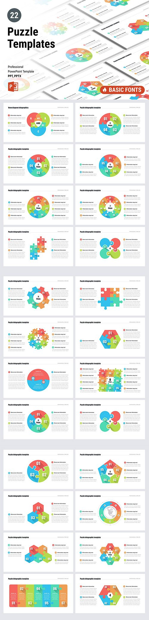 Puzzle Templates for Powerpoint Keynote and Google Slides Templates