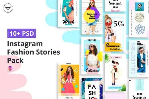 Instagram Fashion Stories Pack - 3WV2M8