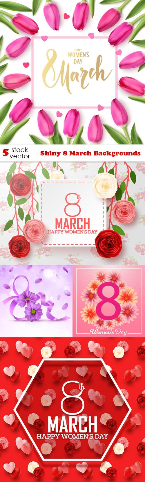 Vectors - Shiny 8 March Backgrounds