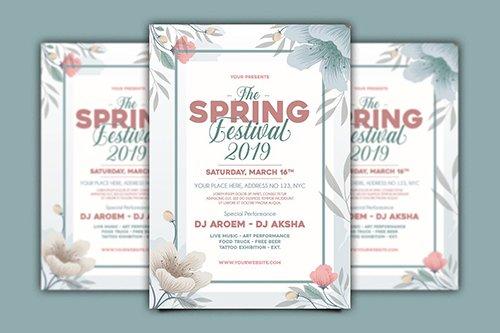 Spring Festival Flyer PSD