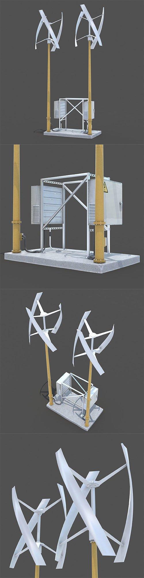 Wind generator 3D model
