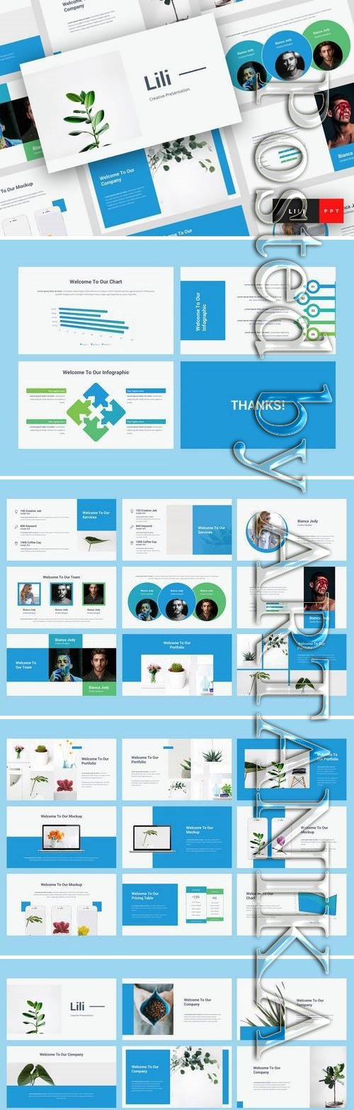 Lili - Powerpoint, Keynote, Google Sliders Templates