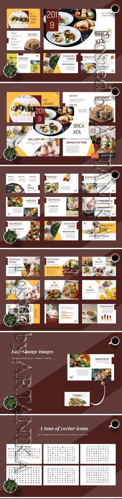 Breakfa - Food Powerpoint, Keynote, Google Sliders Templates