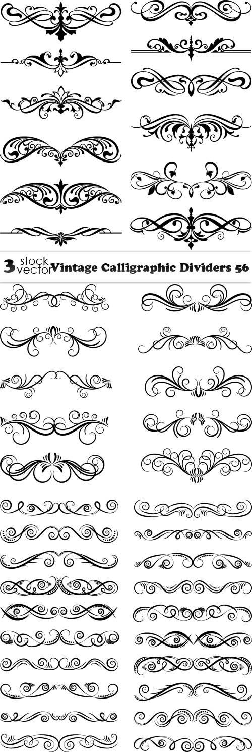 Vectors - Vintage Calligraphic Dividers 56