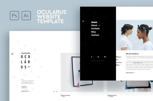 Ocularus - Minimal Photography PSD & AI Template
