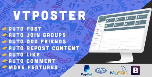 CodeCanyon - VTPoster v1.5 - Facebook Marketing Tool - 20493970 - NULLED