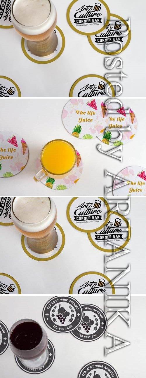 Drink Coaster Mock Up