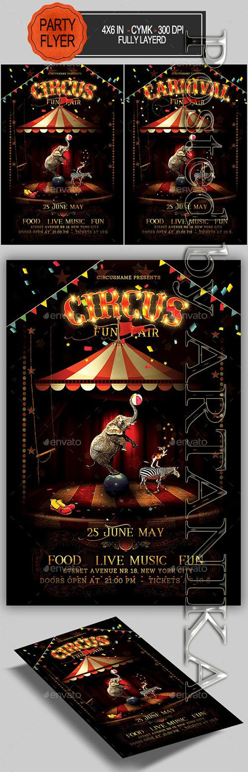 GraphicRiver - Circus Flyer 23059928