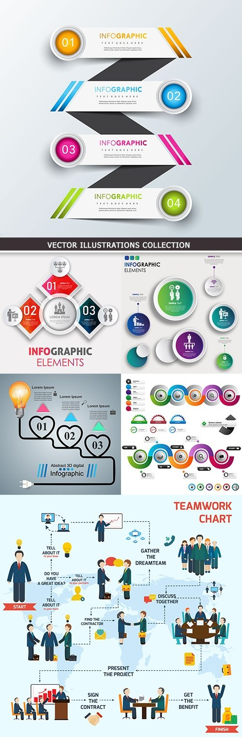 Business infographics options elements collection 33