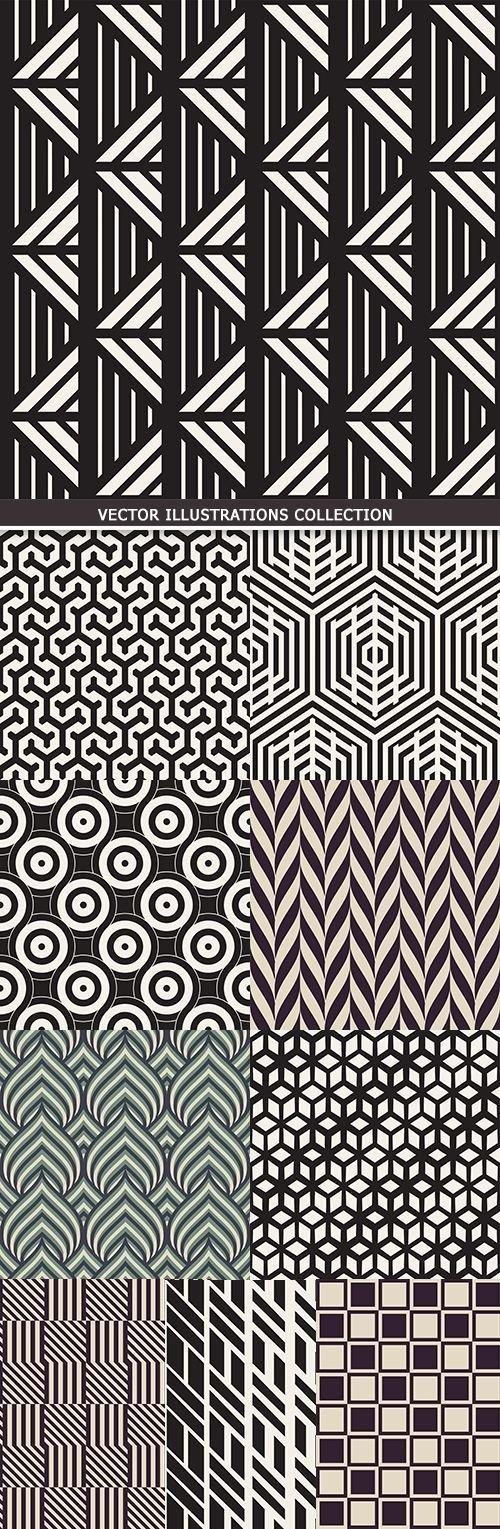 Modern abstract geometry seamless pattern design 22