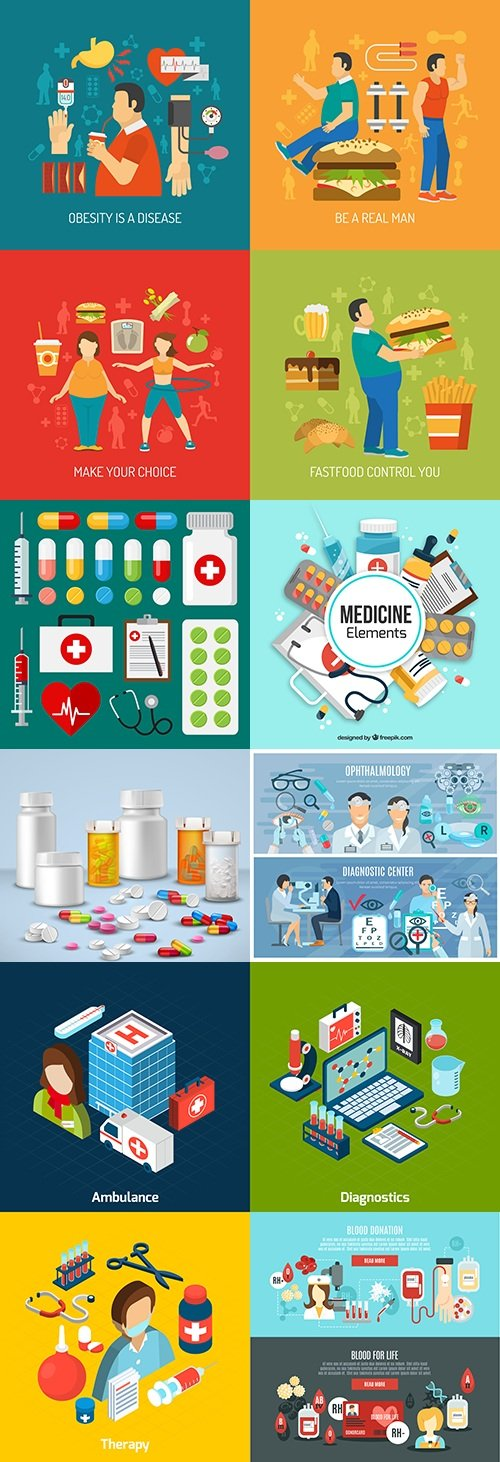 Medicine professional dignostic and equipment illustration 8