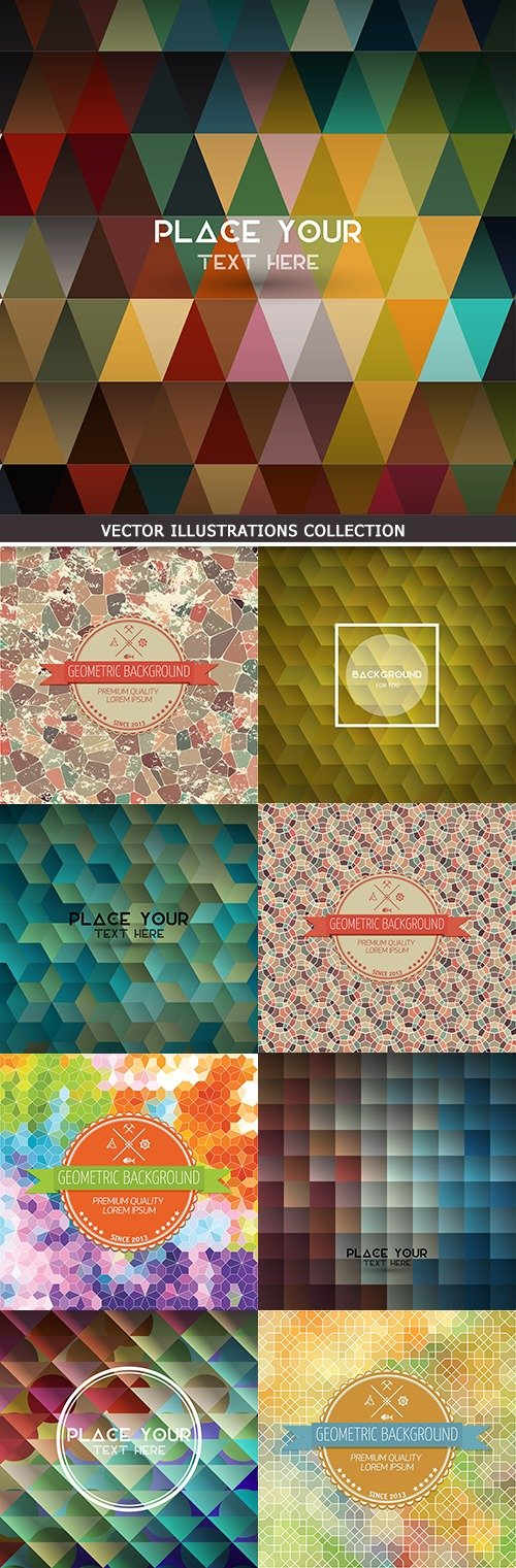 Modern colorful mosaic and geometric polygon background