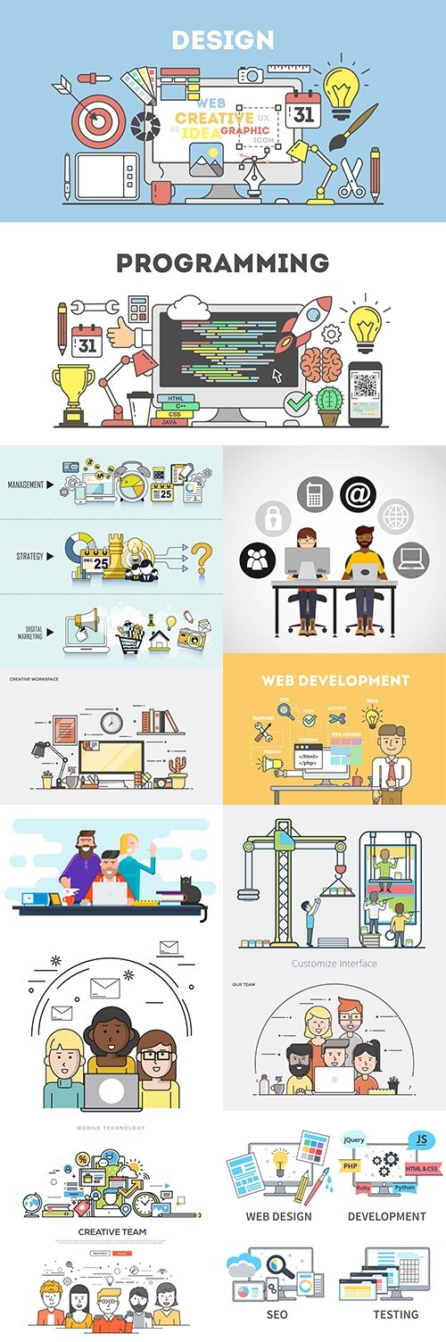 Programming and internet technology office working design