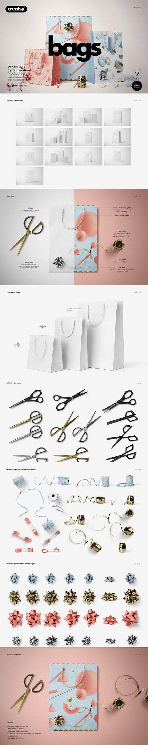 Paper Bags Mockup (gifting edition) - 3439321