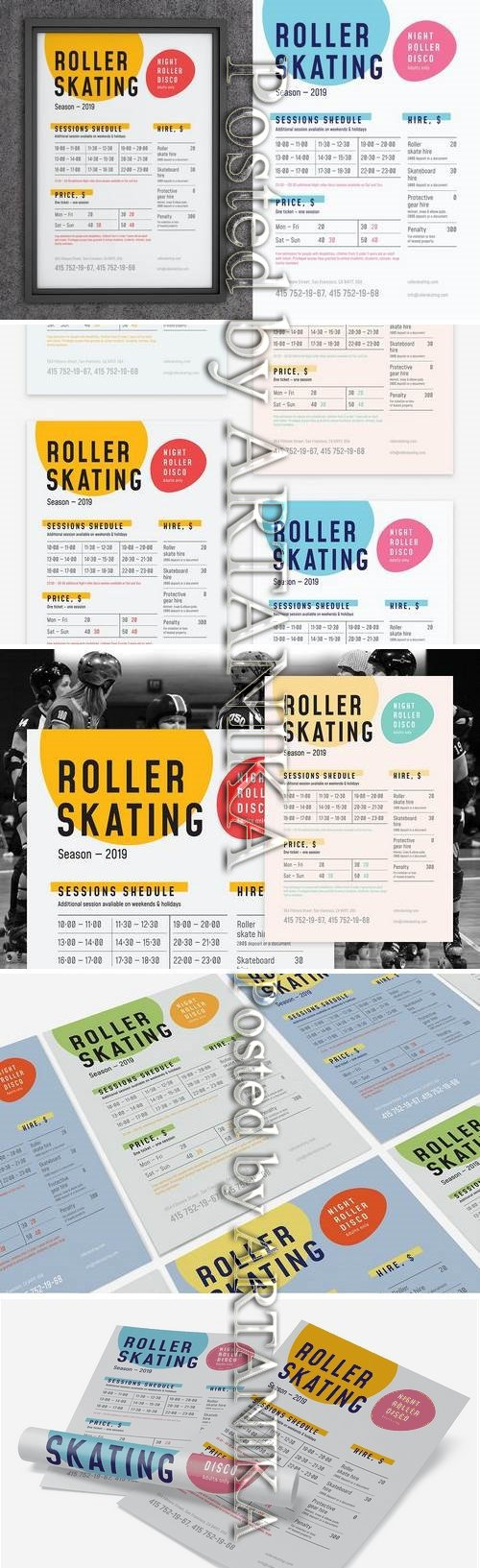 Roller Skating Schedule Poster Template