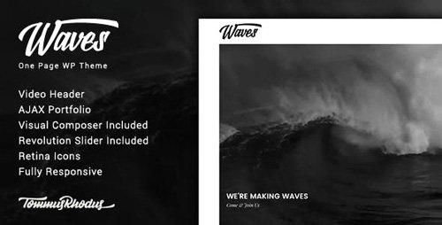 ThemeForest - Waves v1.0.2 - Fullscreen Video One-Page WordPress Theme - 20288474