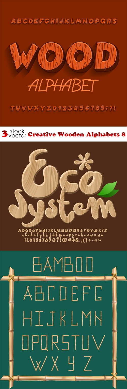 Vectors - Creative Wooden Alphabets 8
