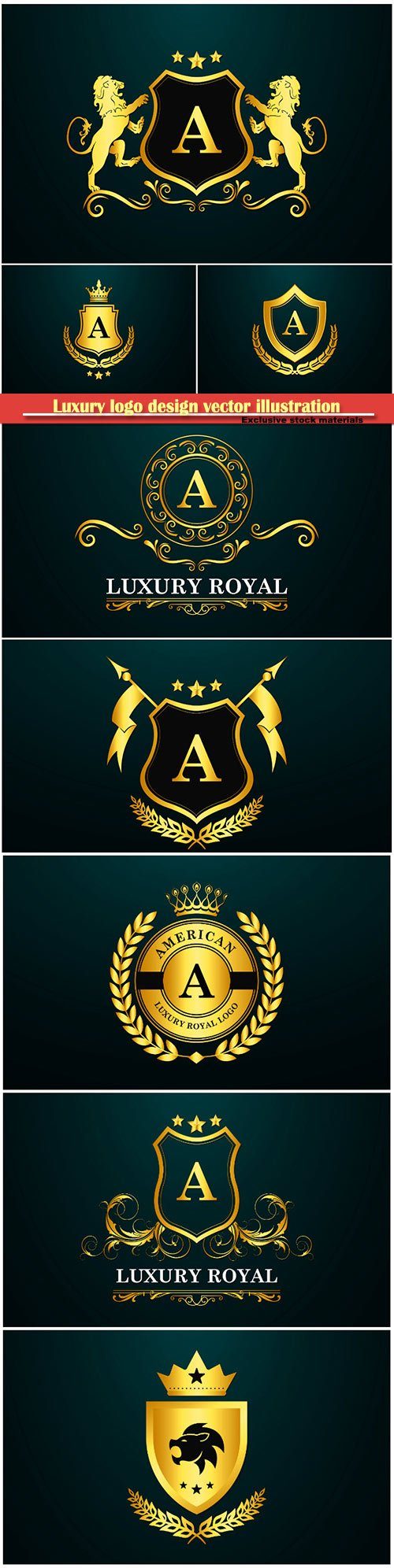 Luxury logo design vector illustration template