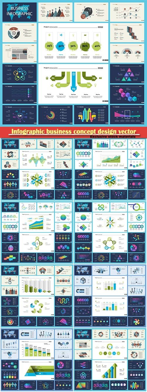 Infographic business concept design vector illustration # 7