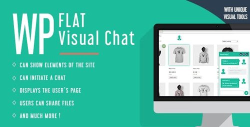 CodeCanyon - WP Flat Visual Chat v5.383 - Live Chat & Remote View for Wordpress - 8329900