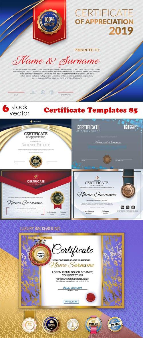 Vectors - Certificate Templates 85