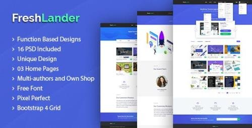 ThemeForest - FreshLander v1.0 - Marketplace for Easy Digital Downloads PSD Template - 23264614