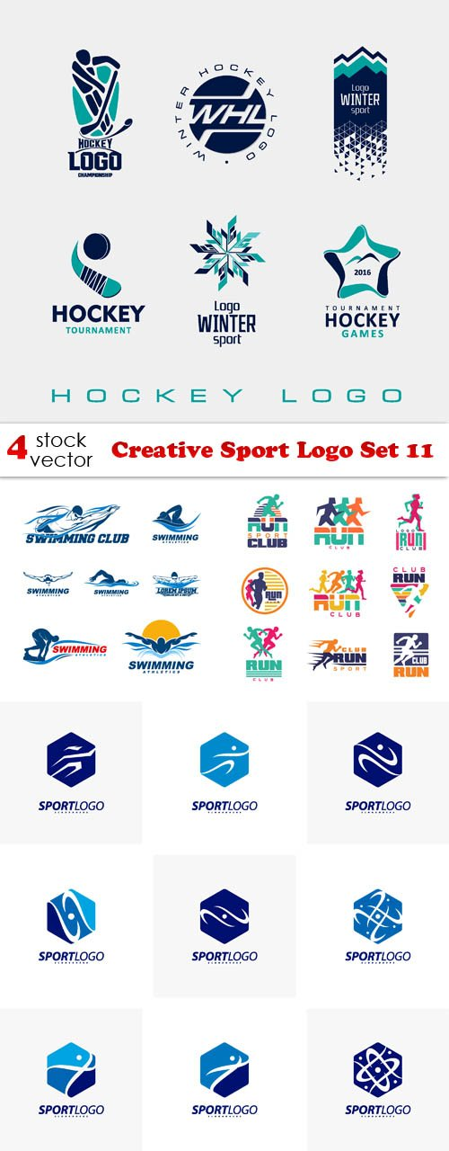 Vectors - Creative Sport Logo Set 11