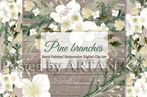 Pine branches design