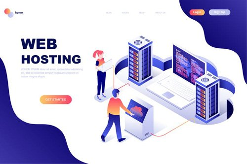 Time Management Isometric Landing Page Template