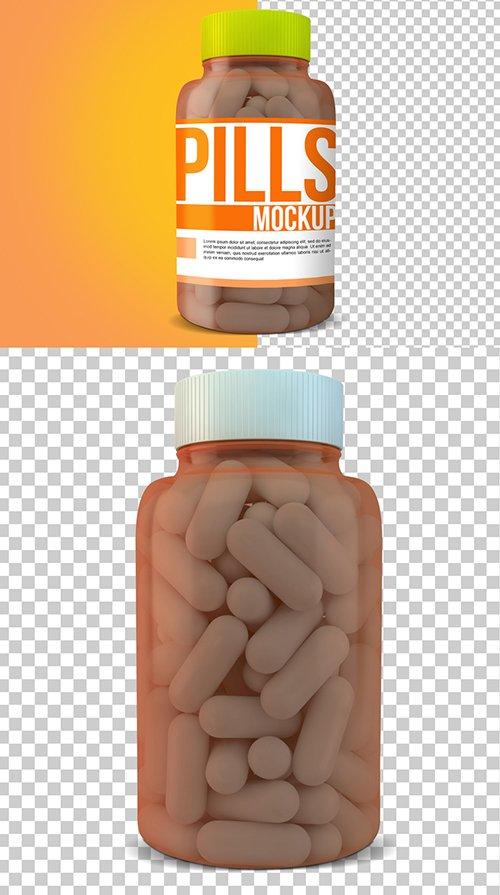 PSDT Pill Bottle Mockup 249148455