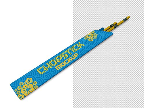 PSDT Chopsticks with Paper Cover Mockup 249148234