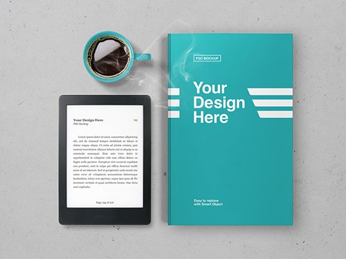 PSDT eBook and Book Cover Mockup