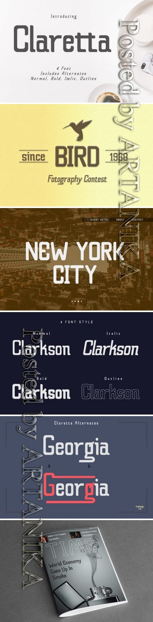 CM - Claretta (Font Family) 3377409