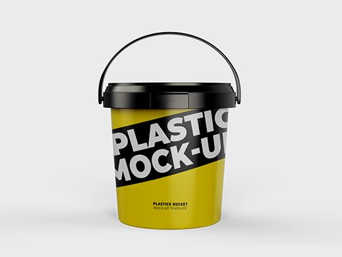 PSDT Plastic Bucket Mockup 250318096