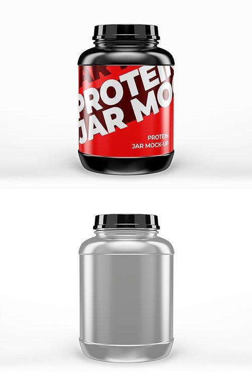 PSDT Large Protein Jar Mockup 250318122