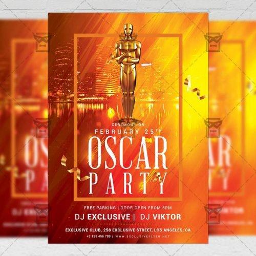 Club A5 Template - Oscar Party Flyer