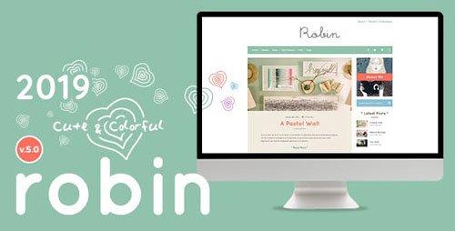 ThemeForest - Robin v5.0 - Cute & Colorful Blog Theme - 14429654