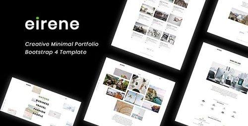 ThemeForest - Eirene v1.0 - Creative Minimal Portfolio Bootstrap 4 Template - 22836033