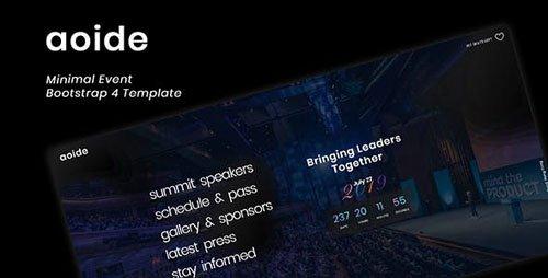 ThemeForest - Aoide - Event Bootstrap 4 Template (Update: 5 December 18) - 22869576