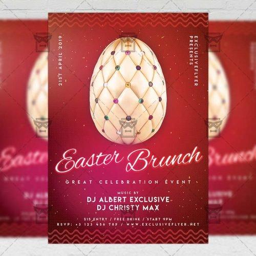 Seasonal A5 Template - Easter Brunch 2019 Flyer