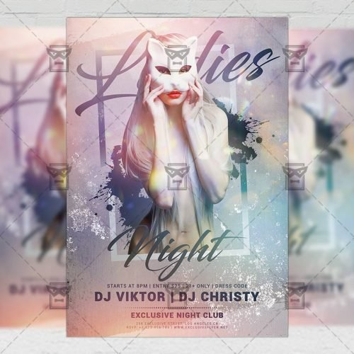 Club A5 Template - Ladies Club Night Flyer
