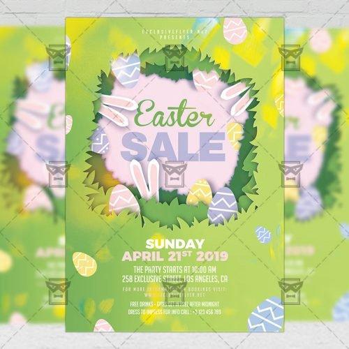 Seasonal A5 Template - Easter Sale 2019 Flyer