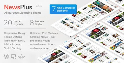 ThemeForest - NewsPlus v3.4.1 - News and Magazine WordPress theme - 4208250
